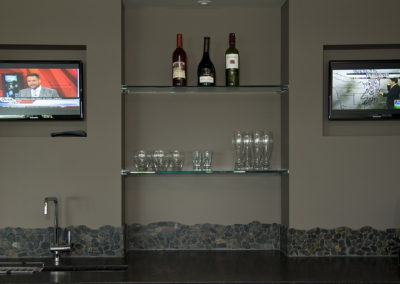 Recreation room bar televisions - Built-Rite Homes - DSC_5582